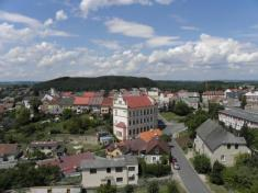 Město zvěže husitského kostela