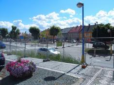 Husovo náměstí během revitalizace