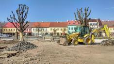 Průběh stavby v dubnu 2020